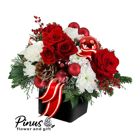 Bunga Meja natal - Merry Christmas Charm