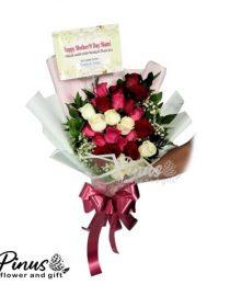Home Hand Bouquet - Colourful Rose Bouquet