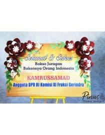 Bunga Papan kertas 002