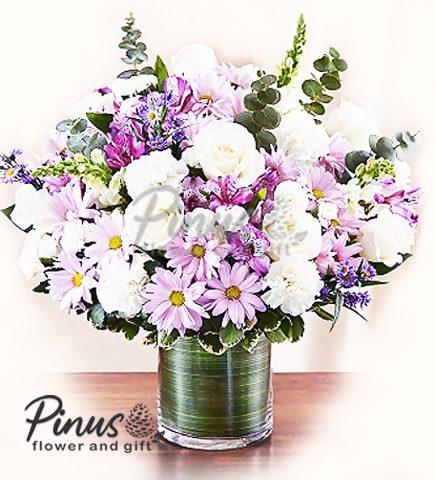 Bunga Meja Surabaya - Rose Bravery in Vase