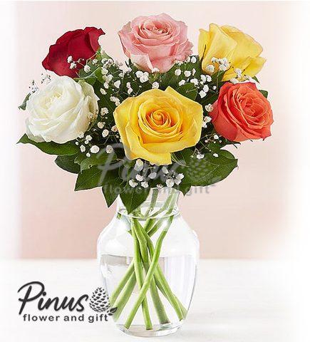 Bunga Meja Surabaya - Rose Elegance Premium
