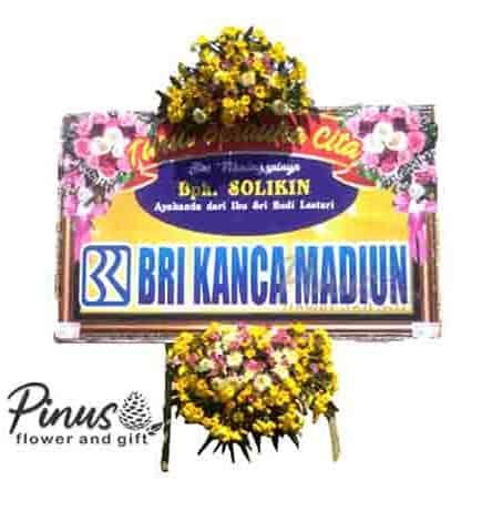 Home Bunga Papan - Deep Sympathy Yellow