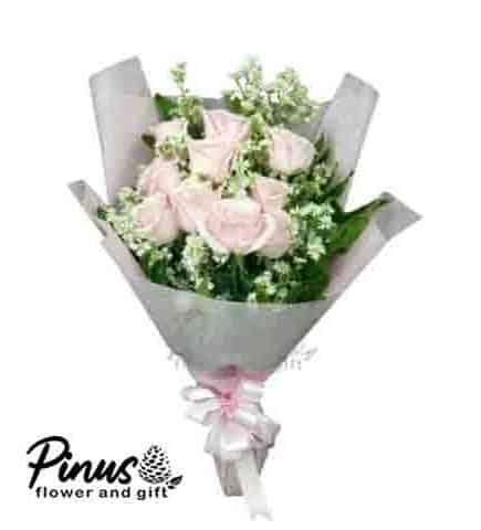 Home Hand Bouquet - Green Soft Clara