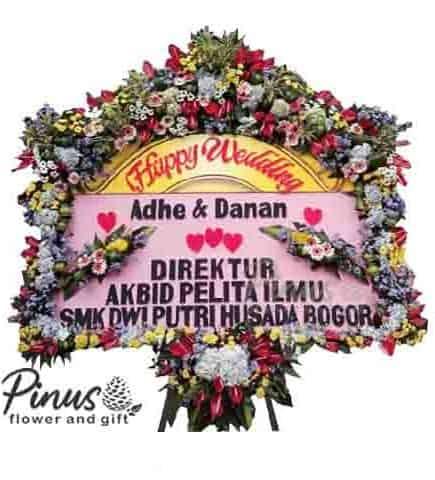Bunga Papan - Wedding Life Pink