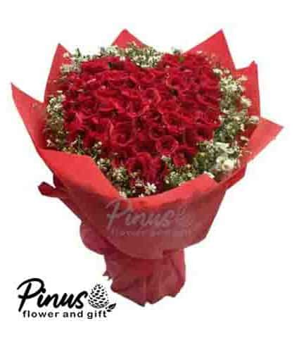 Bunga Ucapan Selamat - Red Rose Comfort