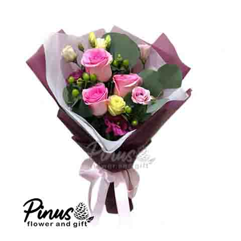 Home Hand Bouquet - Rose Candy Palma