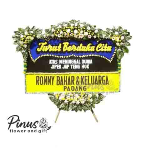 Home Bunga Papan - Condolences Yellow