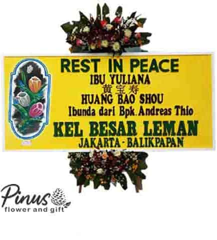 Home Bunga Papan - Rest in Peace Yellow