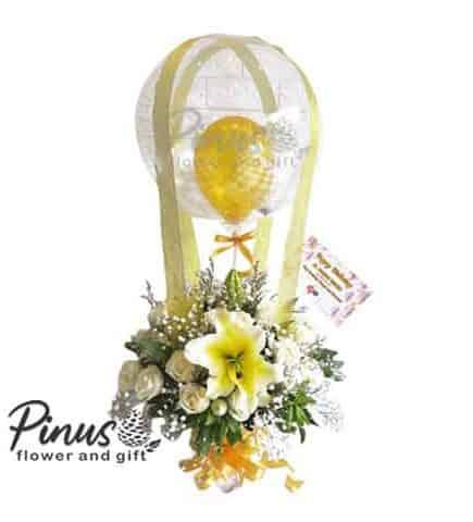 Bunga Ucapan Selamat - Balloon Flower Golden