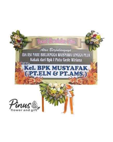 Bunga Papan - Everlasting Peace Orange