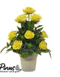 Home Bunga Meja - Roses Yellow Pataya