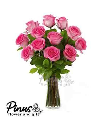 Home Bunga Meja - 11 Roses Beauty