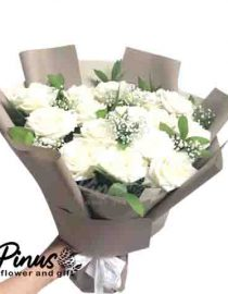 Bunga Ucapan Selamat - Majestic White