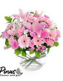 Home Bunga Meja - Rose Dance Pink