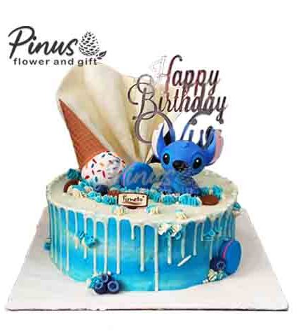Kue Tart Surabaya - Stitch Cream Tart