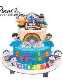Kue Tart Surabaya - Doraemon Happines