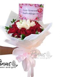 Hand Bucket Surabaya - Roses Loved