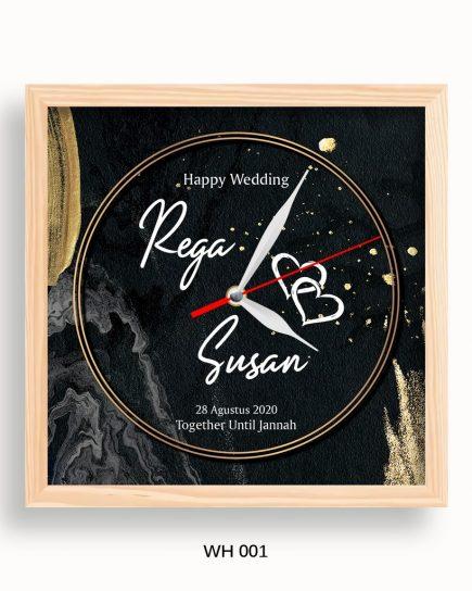 Anniversary Gift - Glorious Black Wedding Clock