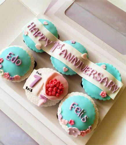 Anniversary Gift - Happy Anniversary Cupcake