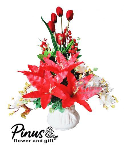 Bunga Artificial Surabaya - Bravery Rosy Artificial